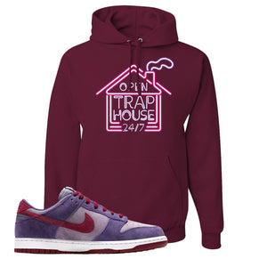 Dunk Low Plum Sneaker Maroon Pullover Hoodie | Hoodie to match Nike Dunk Low Plum Shoes | Trap House 24/7
