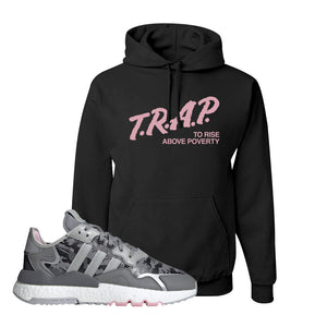 WMNS Nite Jogger True Pink Camo Hoodie | Black, Trap to Rise Above Poverty