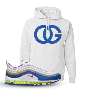 Air Max 97 'Easter' Sneaker White Pullover Hoodie | Hoodie to match Nike Air Max 97 'Easter' Shoes | OG