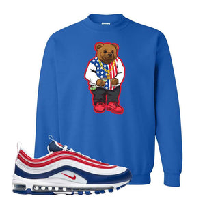 Air Max 97 USA Crewneck | Royal Blue, Sweater Bear
