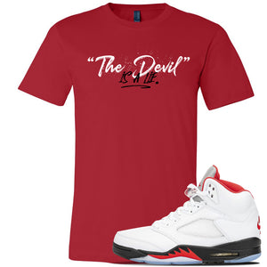 Air Jordan 5 OG Fire Red T Shirt | Red, Devil Is A Lie