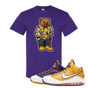 Lebron 7 'Media Day' T Shirt | Purple, Sweater Bear