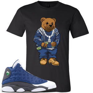Jordan 13 Flint 2020 Sneaker Black T Shirt | Tees to match Nike Air Jordan 13 Flint 2020 Shoes | Sweater Bear
