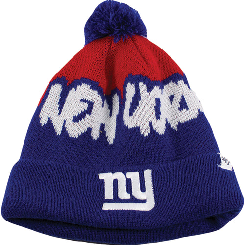 New York Giants Kid's Underdog Pom Beanie