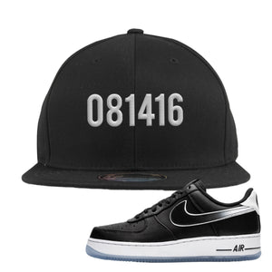 Colin Kaepernick X Air Force 1 Low 081416 Black Sneaker Hook Up Snapback Hat