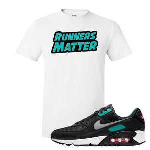 Air Max 90 Black New Green T Shirt | Runners Matter, White