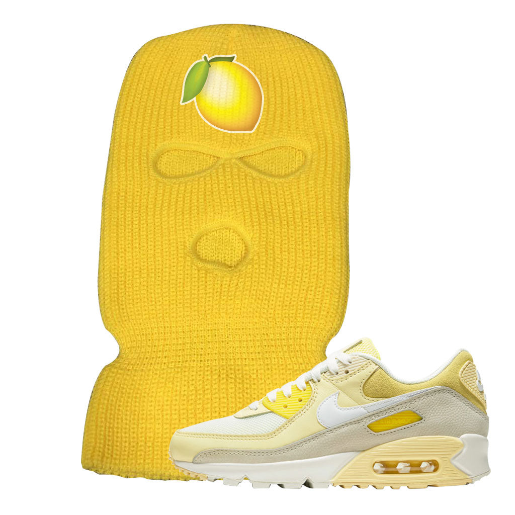 Air Max 90 Lemon Sneaker Yellow Ski Mask Zimowa maska ​​pasująca do butów Nike Air Max 90 LemonLemon Emoji Zimowa maska ​​pasująca do butów Nike Air Max 90 Lemon Lemon Emoji