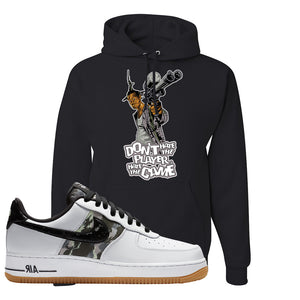 Air Force 1 Low Camo Hoodie | Don't Hate The Playa, Black