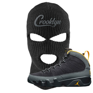 Air Jordan 9 Charcoal University Gold Ski Mask | Crooklyn, Black