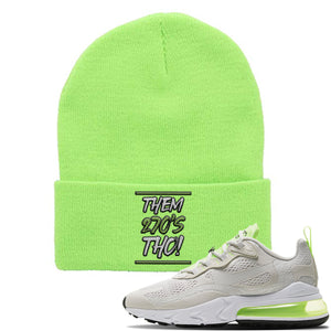 Air Max 270 React Ghost Green Sneaker Neon Lime Beanie | Beanie to match Nike Air Max 270 React Ghost Green Shoes | Them 270 Tho