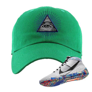 KD 13 Home Dad Hat | Kelly Green, All Seeing Eye