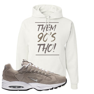 Air Max Triax 96 Grey Suede Hoodie | Them 90's Tho, White