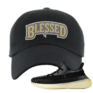 Yeezy Boost 350 v2 Carbon Dad Hat | Blessed Arch, Black