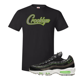 Air Max 95 Black / Electric Green T Shirt | Crooklyn, Black
