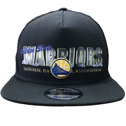 brand new ef3f7 fcba0 On the front of the Golden State Warriors Diamond Bling Trucker Snapback Hat  has the golden