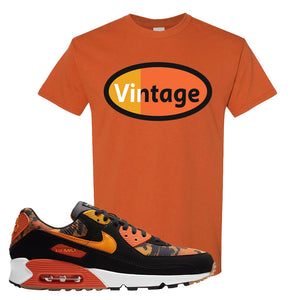 Air Max 90 Orange Camo T Shirt | Vintage Oval, Texas Orange