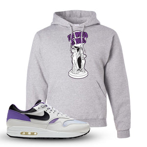 Air Max 1 DNA Series Sneaker Ash Pullover Hoodie | Hoodie to match Nike Air Max 1 DNA Series Shoes | The World Is Yours Statue