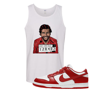 SB Dunk Low St. Johns Tank Top | Escobar Illustration, White