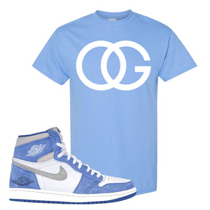 Air Jordan 1 High Hyper Royal T-Shirt | OG, Carolina Blue