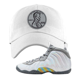 Lil Posite One Rainbow Pixel Dad Hat | White, Penny