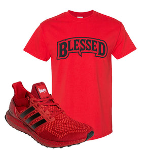 Ultra Boost 1.0 Nebraska T-Shirt | Blessed Arch, Red