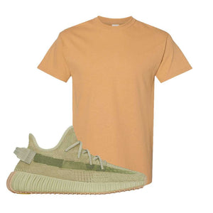Yeezy 350 v2 Sulfur T Shirt | Old Gold, Blank