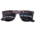 on the front of the neff royc tortoise sunglasses are the black frames