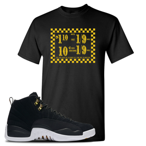 Taxi Fare Black T-Shirt To Match Jordan 12 Reverse Taxi Sneakers