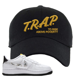 Air Force 1 Dad Hat | Black, Trap To Rise Above Poverty