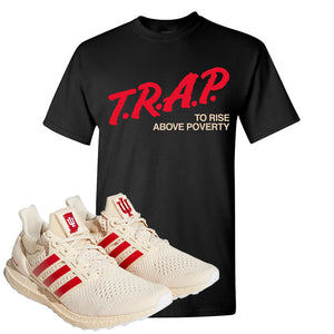 Adidas Ultra Boost 1.0 Indiana T-Shirt | Trap To Rise Above Poverty, Black