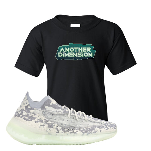 Yeezy Boost 380 Alien Another Dimension Black Sneaker Matching Kid's T-Shirt