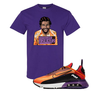 Air Max 2090 Magma Orange T Shirt | Purple, Escobar Illustration