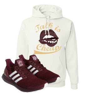 Ultra Boost 1.0 Texas A&M Hoodie | Talk Is Life, White