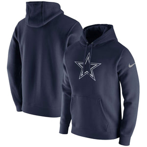 Dallas Cowboys 2019 On-Field Sideline Nike Navy Blue Fleece Pullover Hoodie
