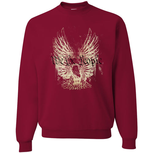 Standard Issue We The People Bald Eagle Cardinal Red Grunt Life Crewneck Sweater