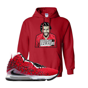 Lebron 17 Uptempo Hoodie | Red, Escobar Illustration