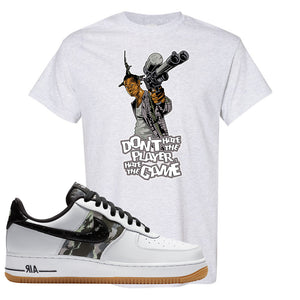 Air Force 1 Low Camo T Shirt | Don't Hate The Playa, Ash
