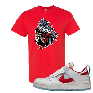 Dunk Low Disrupt Gym Red T Shirt | Indian Chief, Red