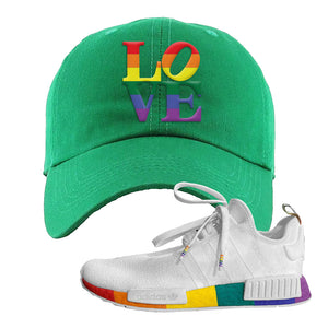 NMD R1 Pride Dad Hat | Kelly Green, Love Park