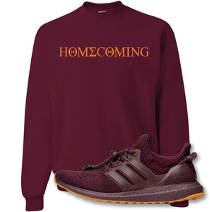 Homecoming Maroon Crewneck Sweatshirt to match Ivy Park X Adidas Ultra Boost Sneaker