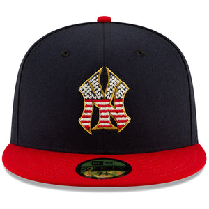 New York Yankees Stars and Stripes 2019 Fourth Of July On Field 59FIFTY Fitted Cap
