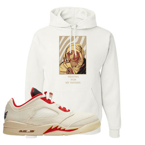 Air Jordan 5 Low Chinese New Year 2021 Hoodie | God Told Me, White
