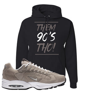 Air Max Triax 96 Grey Suede Hoodie | Them 90's Tho, Black