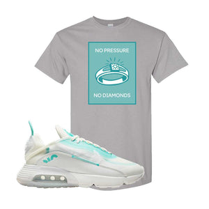 Air Max 2090 Pristine Green T Shirt | Gravel, No Pressure No Diamond