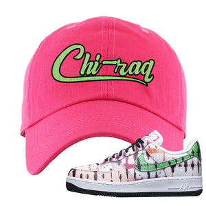 Air Force 1 Low Multi-Colored Tie-Dye Dad Hat | Pink, Chiraq