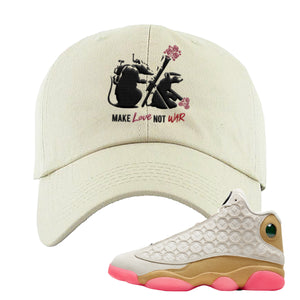 Army Rats Ivory Dad Hat to match Jordan 13 Chinese New Year Sneaker