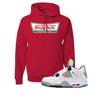 Jordan 4 WMNS Carnival Sneaker True Red Pullover Hoodie | Hoodie to match Do The Right Thing 4s | Krispy Kicks