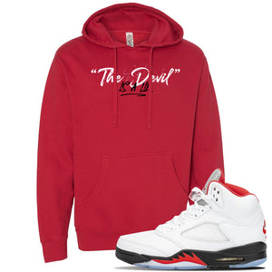 Air Jordan 5 OG Fire Red Hoodie | Red, Devil Is A Lie