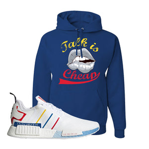 NMD R1 Olympic Pack Hoodie | Royal Blue, Talk is Cheap