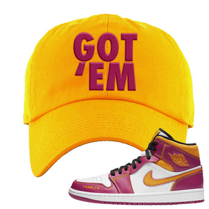Air Jordan 1 Mid Familia Dad Hat | Got Em, Gold